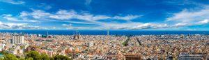 vue aerienne de Barcelone